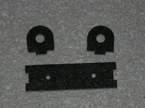 Halterung für Absperrhahn - 4mm Schlauch GFK schwarz