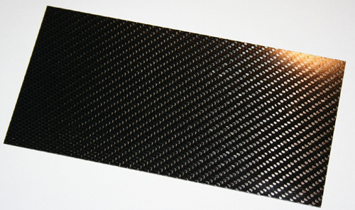 CFK Platte 550 x 350 x 1,5 ± 0,3  mm
