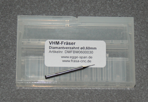 VHM-Fräser Diamantverzahnt Ø 0.60mm