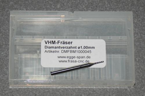 VHM-Fräser Diamantverzahnt Ø 1.00mm
