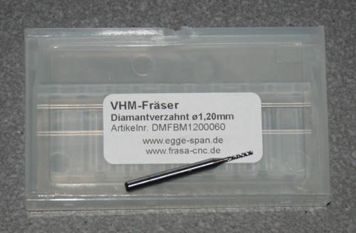 VHM-Fräser Diamantverzahnt Ø 1.20mm