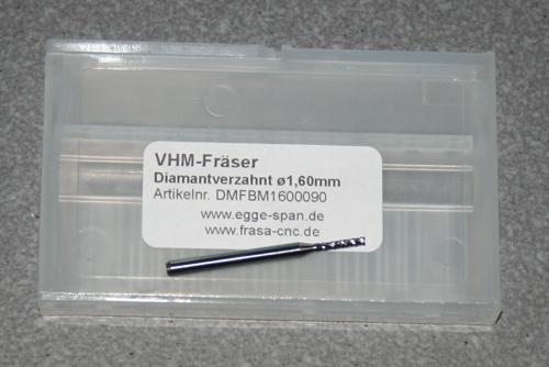 VHM-Fräser Diamantverzahnt Ø 1.60mm