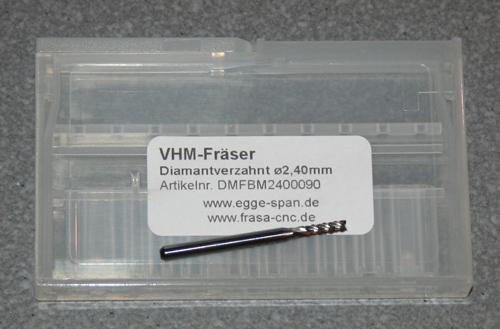 VHM-Fräser Diamantverzahnt Ø 2.40mm