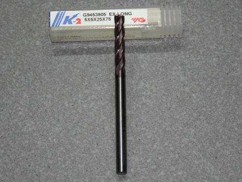 VHM Fräser, 4-Z, 5.00mm extra lang K-2 besch.