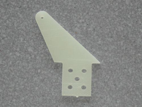 2 Ruderhörner RH55 in 2mm GFK