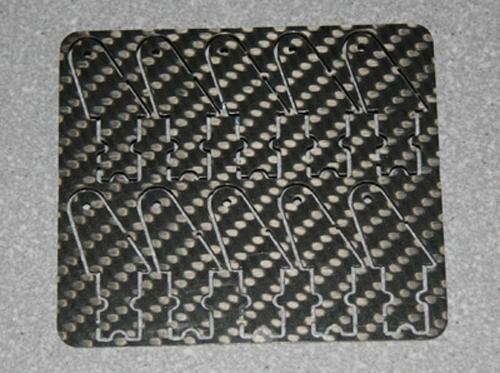 10 Ruderhörner 20 mm aus 1 mm CFK