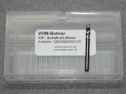 VHM-Bohrer mit 1/8 Schaft Ø 3.50mm