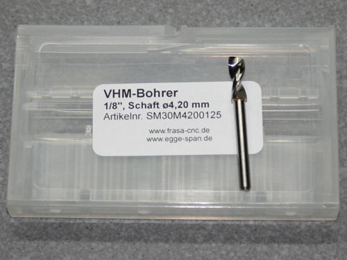 VHM-Bohrer mit 1/8 Schaft Ø 4.20mm