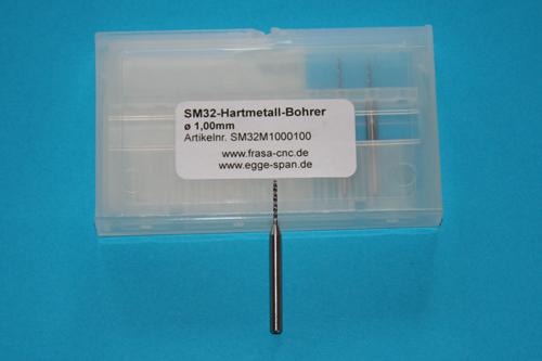 SM 32 Hartmetall-Bohrer Ø 1.00mm