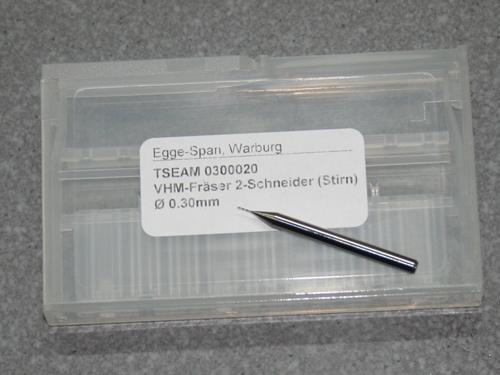 VHM-Fräser 2-Schneider (Stirn) Ø 0.30mm