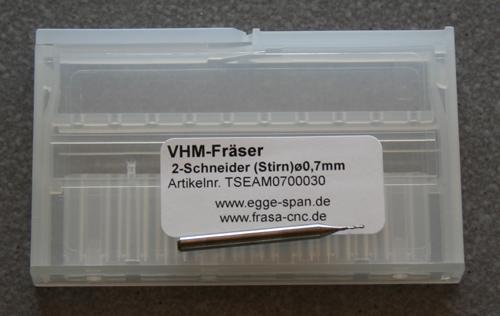 VHM-Fräser 2-Schneider (Stirn) Ø 0.70mm
