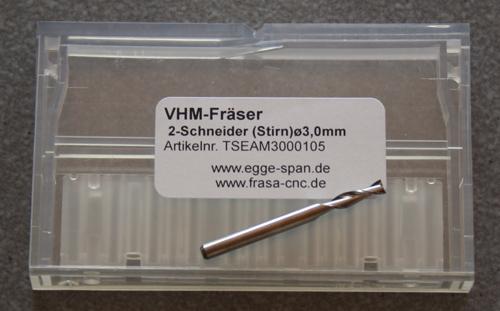 VHM-Fräser 2-Schneider (Stirn) Ø 3.00mm