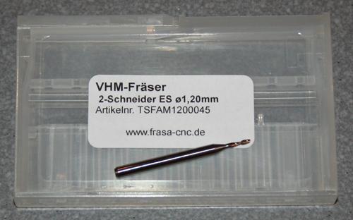 VHM-Fräser 2-Schneider ES  Ø  1.20mm