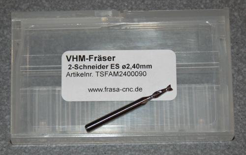 VHM-Fräser 2-Schneider ES  Ø 2,40mm
