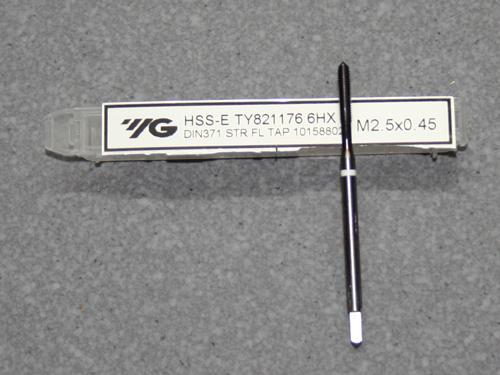 HSS-E, M2,5 Gewindebohrer ISO Gewinde DIN 13  für Kupfer, Kunststoff und GFK / CFK