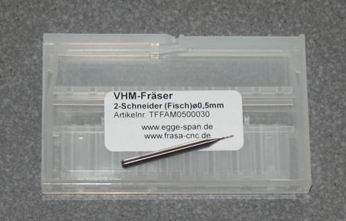 VHM-Fräser 2-Schneider (Fisch)  Ø 0.50mm