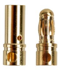 5 Paar Stecker + Buchse Goldkontaktstecker Goldstecker 3,5 mm Lipo Akku