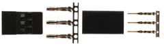 5 Paar Goldkontakt Stecker kompatibel mit JR