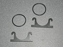 Pumpenhalterung in GFK schwarz für Pumpen mit 24 mm Durchmesser Version 2