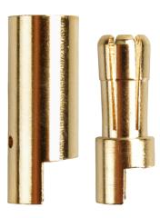 5 Paar Stecker + Buchse Goldkontaktstecker 5,5 mm