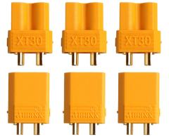 3 Paar Stecker + Buchse Goldkontakt XT30