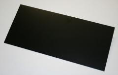 GFK-Platte schwarz 500 x 250 x 0,50 mm +/- 0,10 mm (0,125 m²)