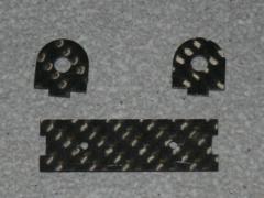 Halterung für Absperrhahn - 4mm Schlauch CFK