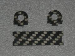 Halterung für Absperrhahn - 6mm Schlauch CFK