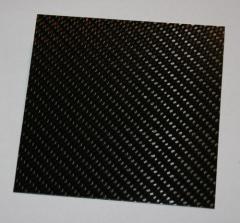 CFK Platte 100 x 100 x 1,5  ±0,2 mm