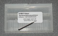 VHM-Fräser mit Spiralverzahnung Ø 0.80mm