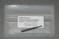VHM-Fräser Diamantverzahnt Ø 2.00mm