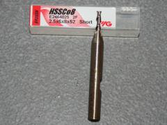 HSSE-CO8, 2 Schneiden 42° Rechtsspirale kurz 2.50mm, unbeschichtet