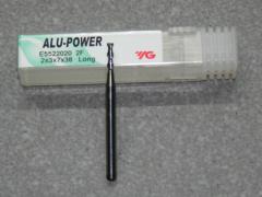Alu-Power VHM 2-Schneider Alu,  2.00mm, RSP 45°, Stirnschn.
