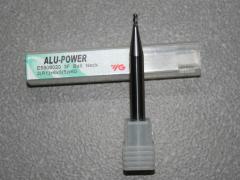 Alu-Power 3-Schneider Stirnradius D=2 mm mit abgesetztem Schaftteil