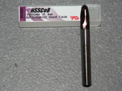 Radiusfräser Ø 6.00mm R=3.00mm, 6mm Schaft, TiAIN
