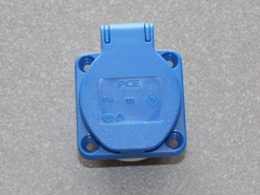 Einbausteckdose 230V / 16A, blau