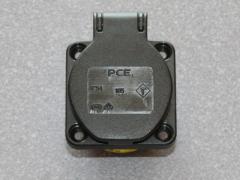 Maschinen-Schutzkontakt-Steckdose Schwarz