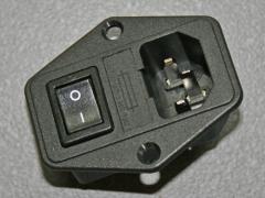 Kaltgerätestecker Einbau mit Sicherung & Schalter (Sicherung nicht enthalten)