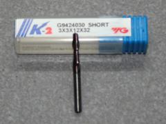 VHM 2-Schneider 3.00mm,  K-2, Kurz.