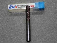 VHM Fräser, 4Z, 8.00mm, kurz, K-2 Beschichtet