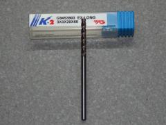 VHM Fräser, 4-Z, 3.00mm extra lang K-2 besch.