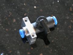 Halterung für Festo Kugelventil (Absperrhahn) 4 oder 6mm