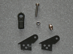 1 Kugelgelenk Ruderhorn RH22 M3 in 2,00mm GFK schwarz
