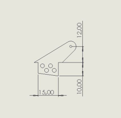 10 Ruderhörner RH25 in 2mm GFK schwarz