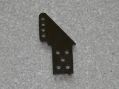 2 Ruderhörner RH32 in 1,50mm GFK schwarz
