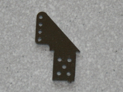 2 Ruderhörner RH34 in 1,50mm GFK schwarz