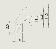 10 Ruderhörner RH37 in 1,50mm GFK