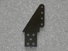 2 Ruderhörner RH37 in 1,50mm GFK schwarz