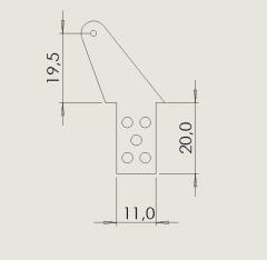 10 Ruderhörner RH45 in 2mm GFK