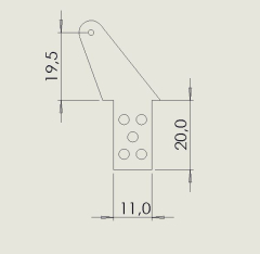 10 Ruderhörner RH45 in 2,00 mm GFK schwarz
